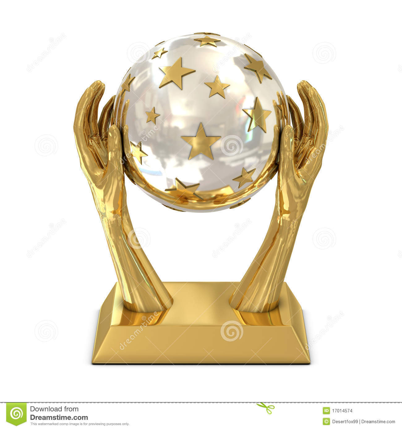 More similar stock images of ` Golden award trophy with stars and ...