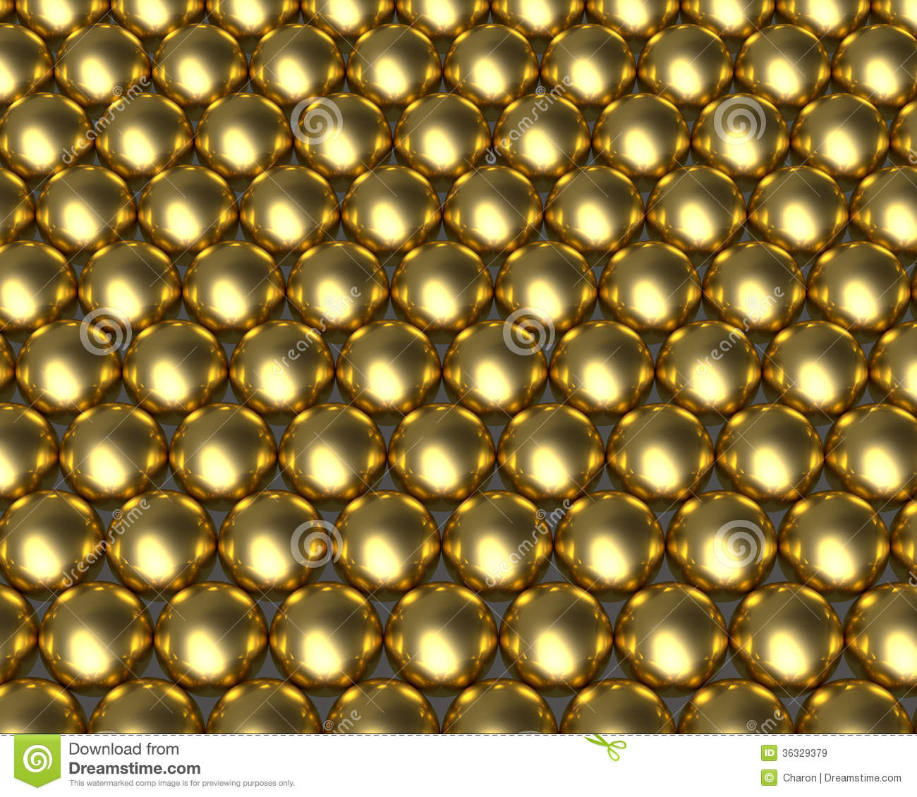 Golden Ball Pattern Reflective Balls Royalty Free Stock Images - Image ...