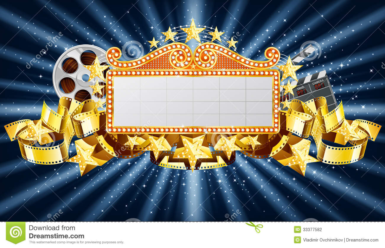 Golden Banner Stock Vector Illustration Of Marquee Gold