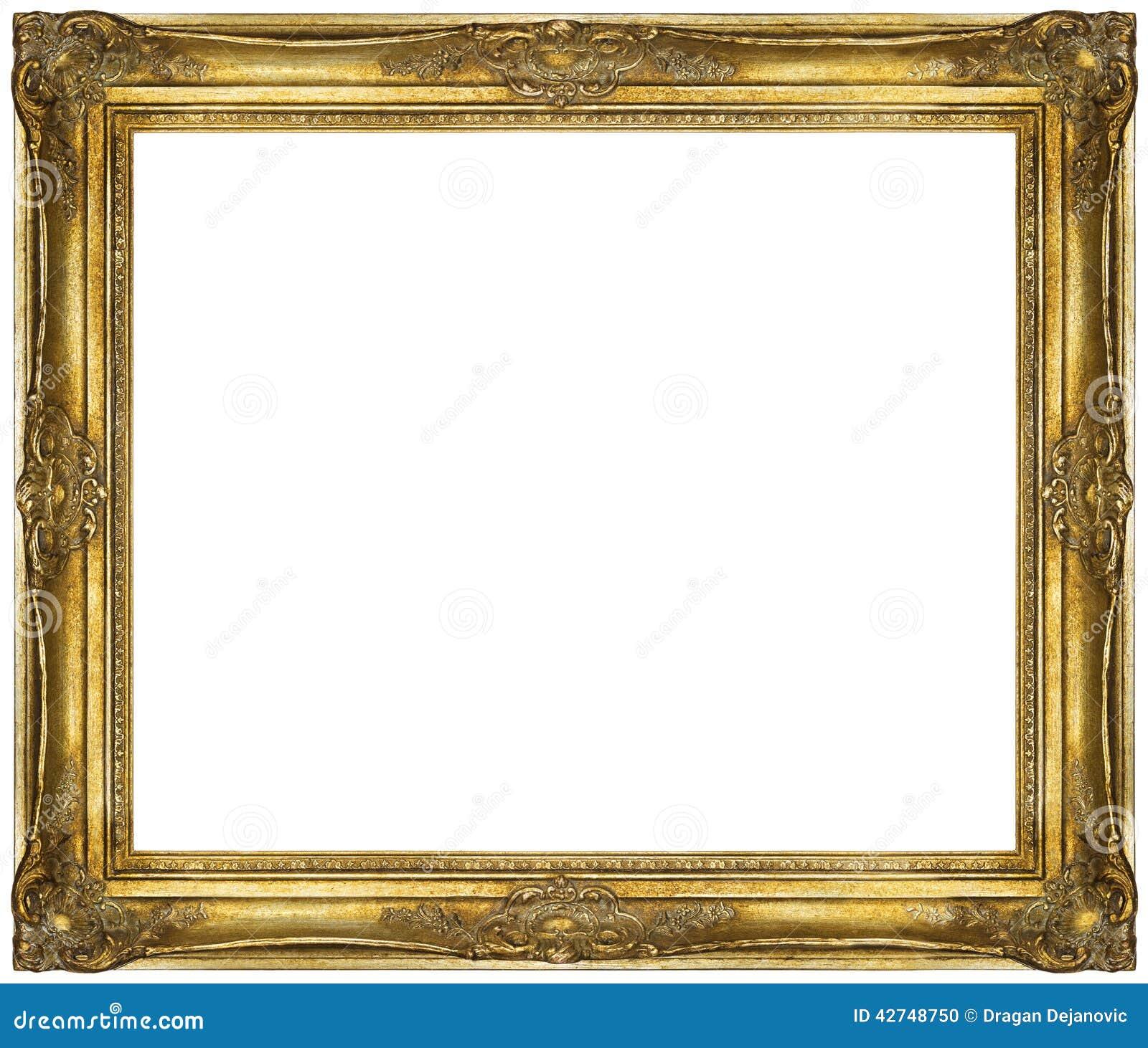 gilded frame restored to its original condition. Modern living antique ...