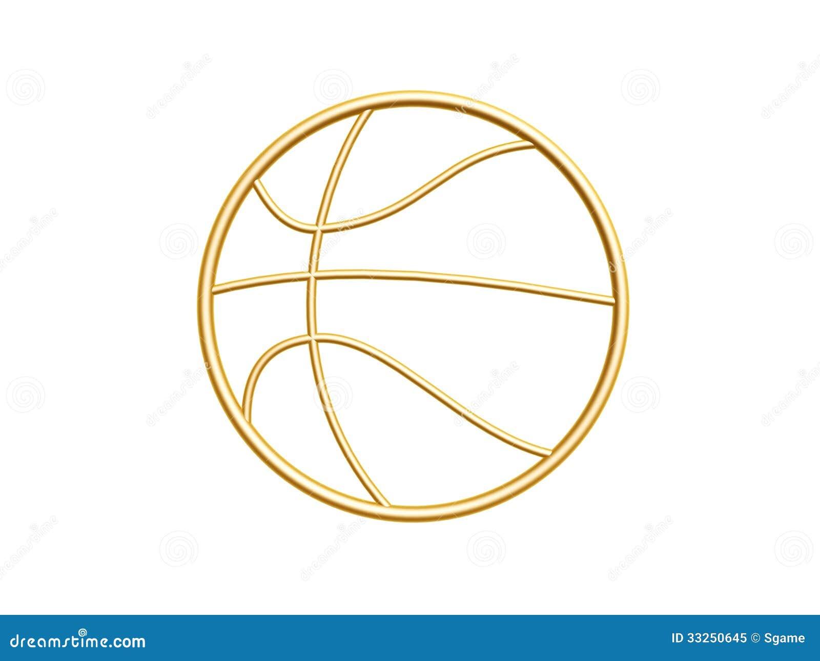 golden basketball symbol royalty free stock photo image