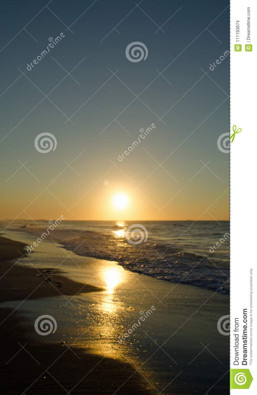 Golden Beach Sun Rise Stock Photo Image Of Ocean Golden