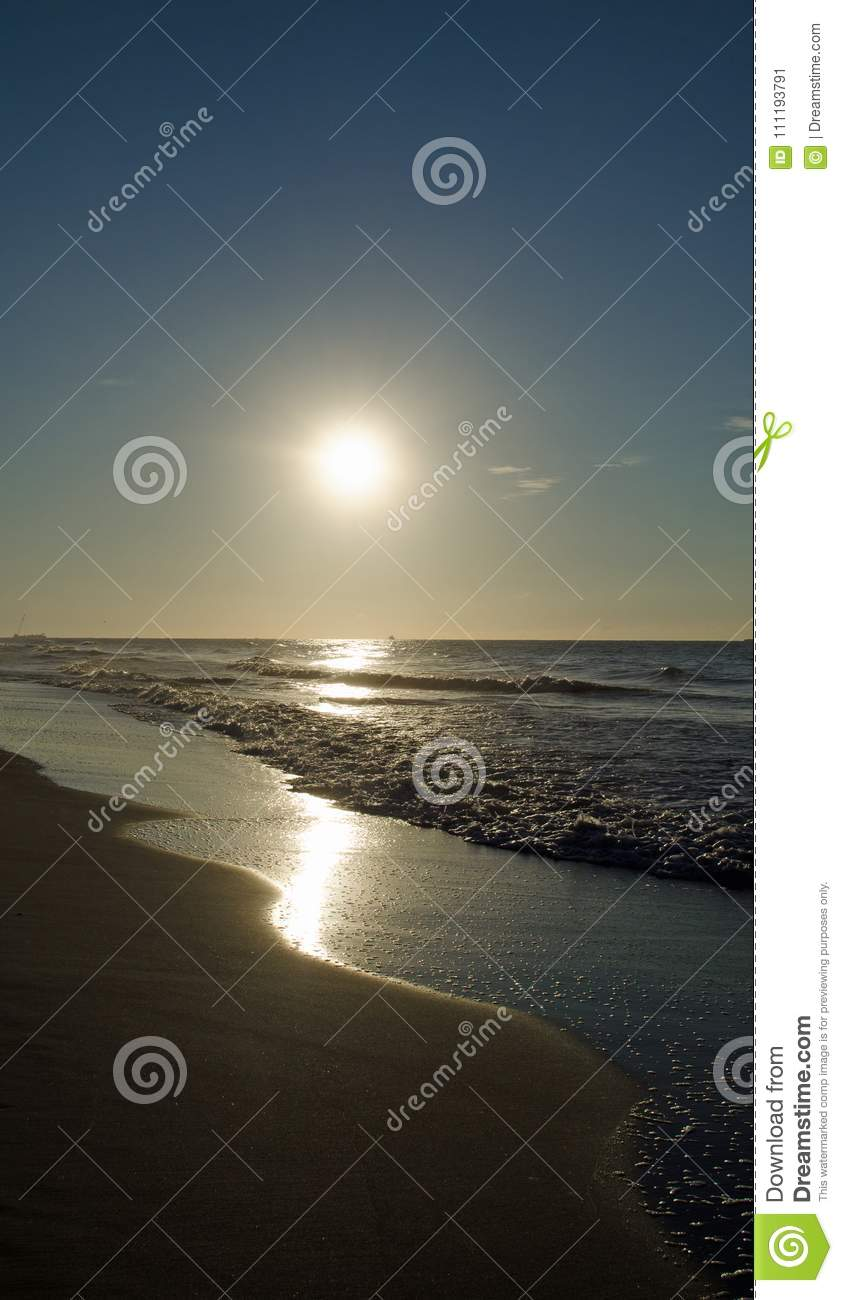 Golden Beach Sun Rise Stock Image Image Of Water Clouds