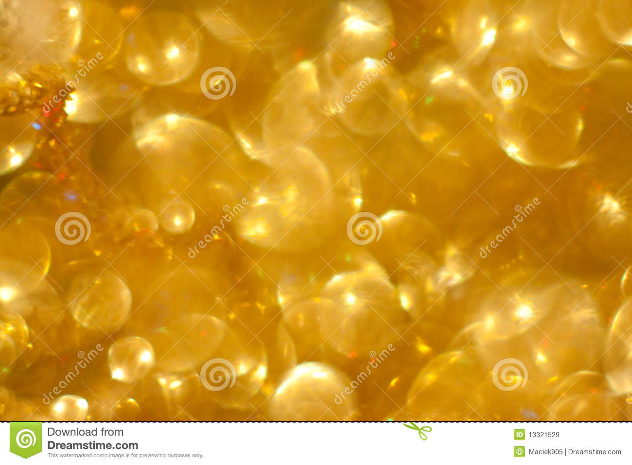 Golden beautiful abstract bokeh background