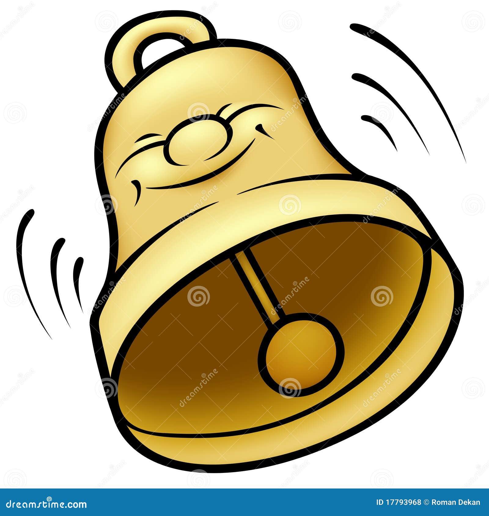Golden Bell stock vector. Illustration of comic, ding ...
