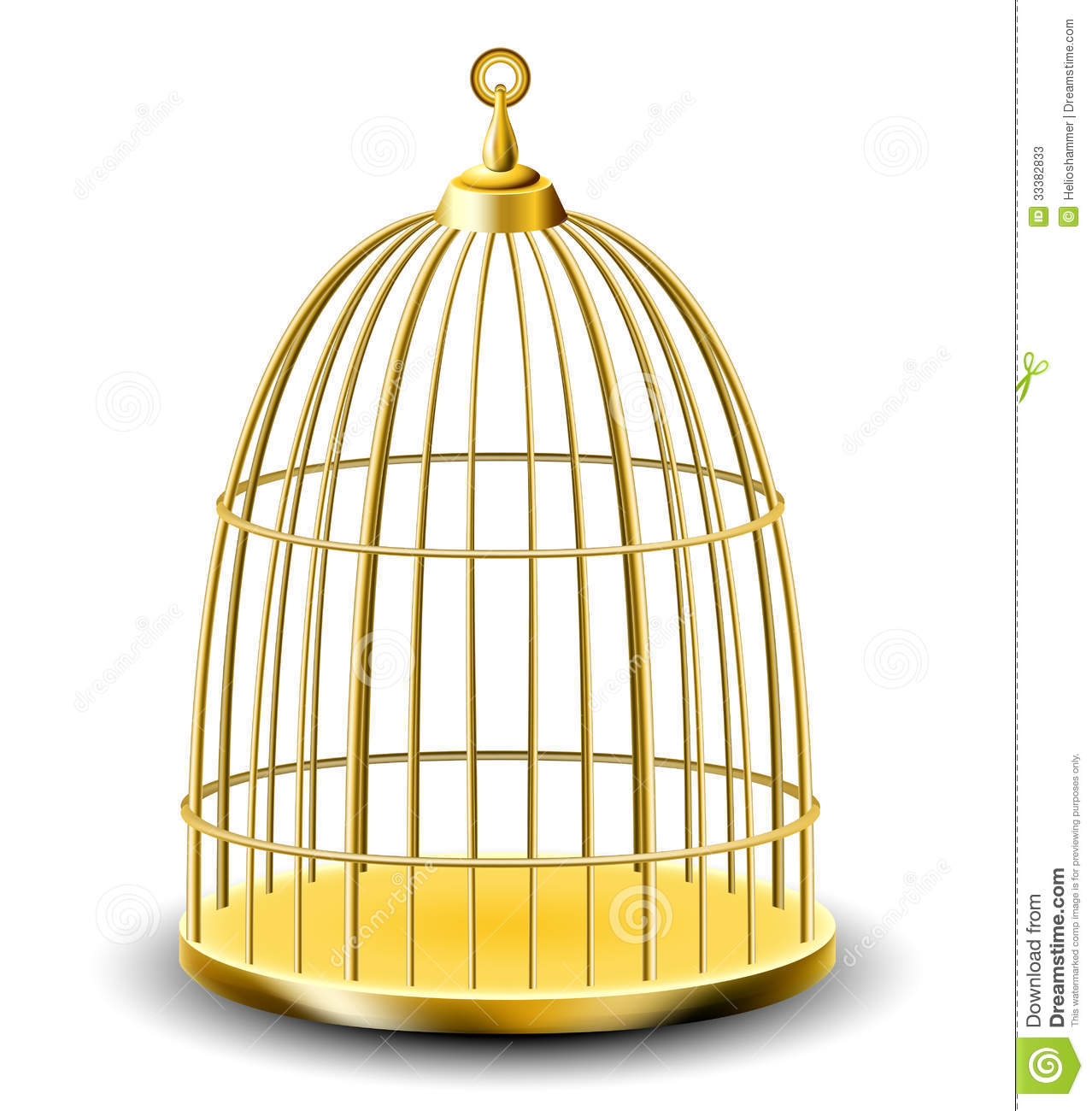 golden bird cage stock photos image 33382833 Cartoon Mouse Clip Art Tropical Parrot Clip Art