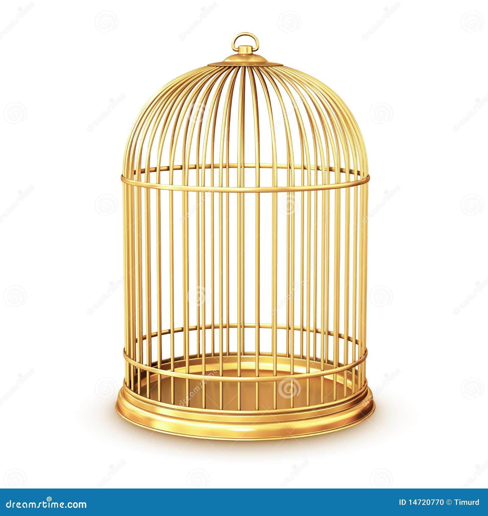 Golden Birdcage Stock Photo