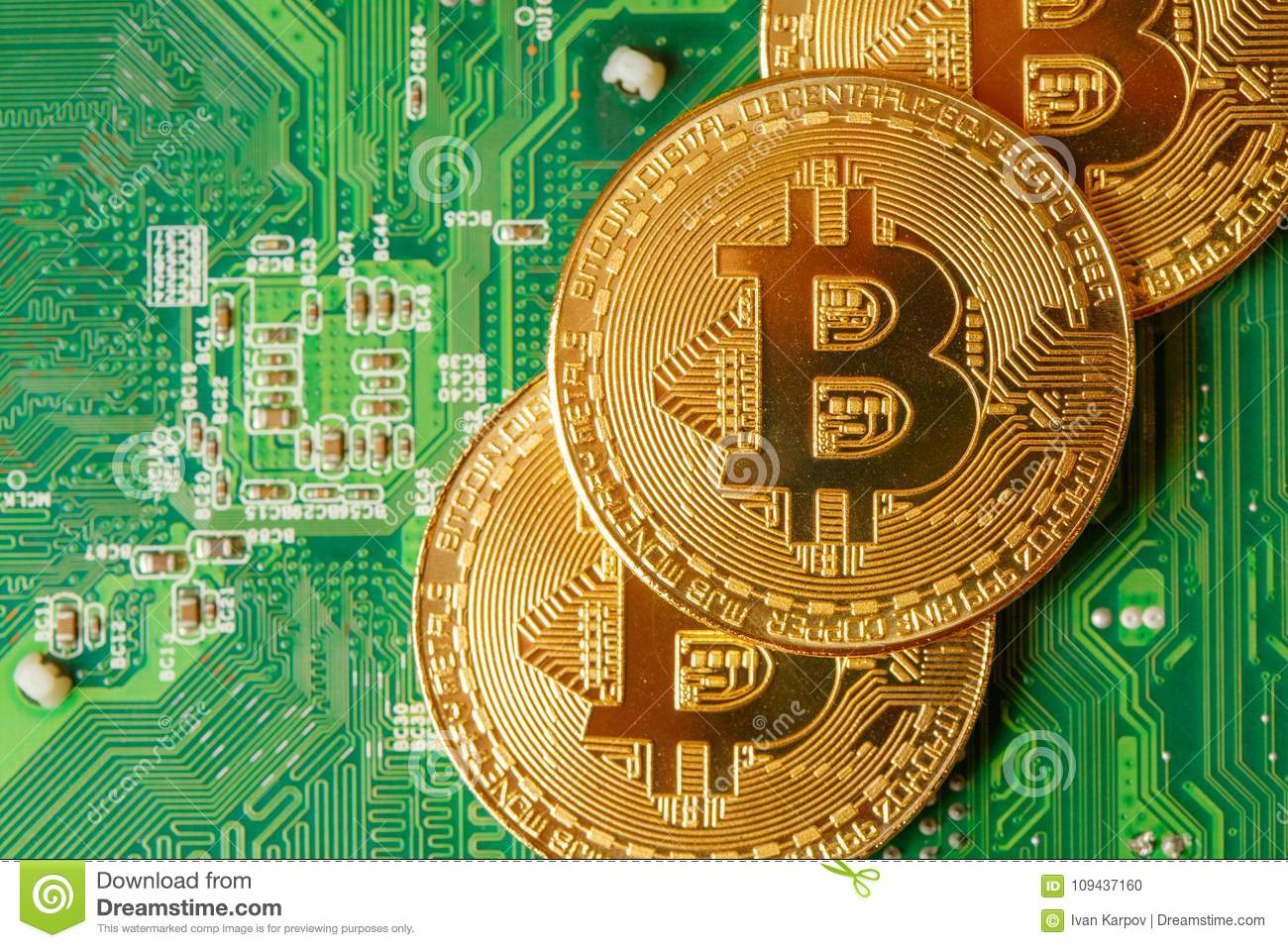 Gold Circuit Board Concept Complete Wiring Diagrams Recovery From Boards Golden Bitcoin Cryptocurrency On Computer Macro Shot Rh Dreamstime Com Content