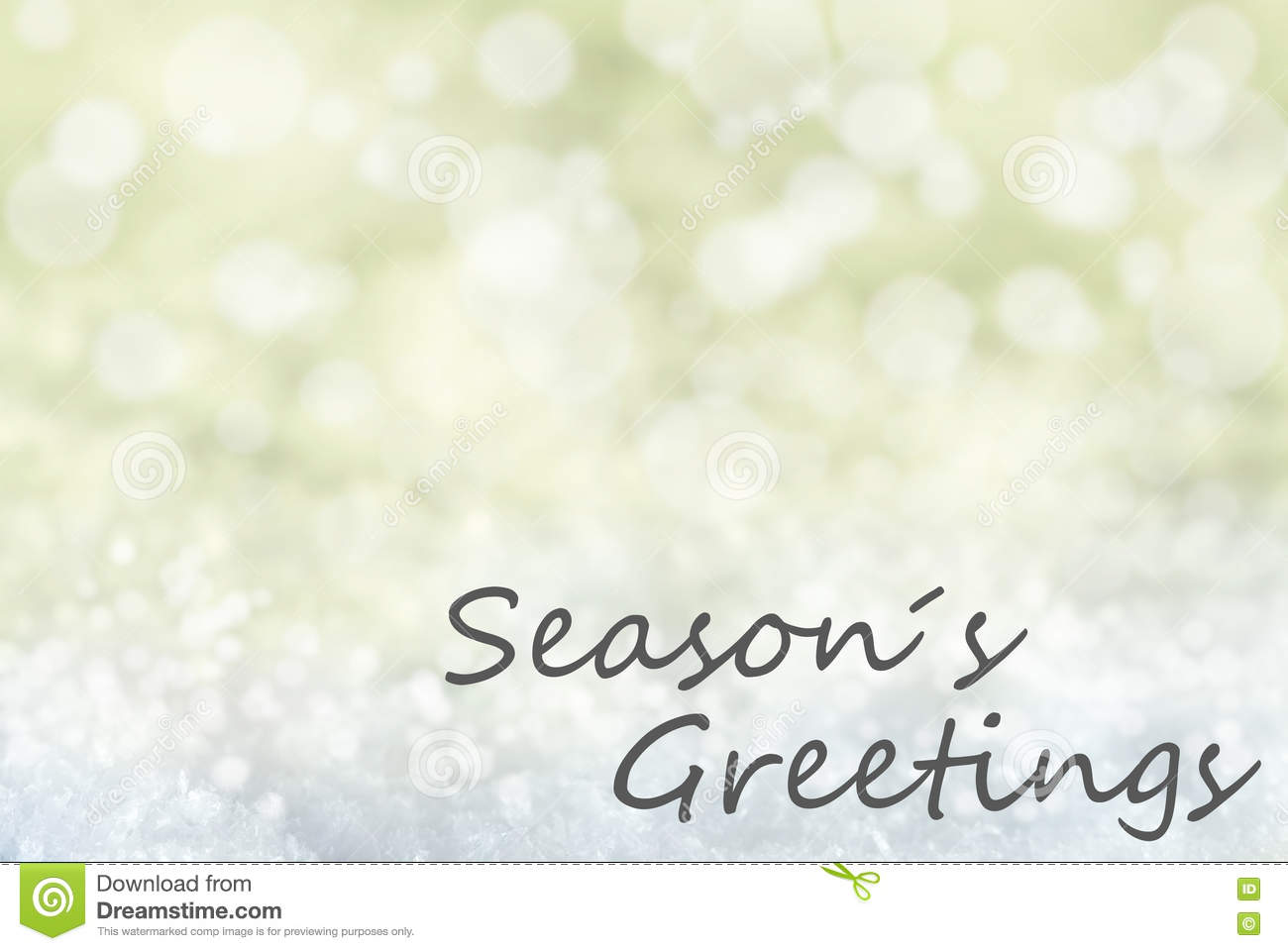 Golden bokeh christmas background snow text seasons greetings download comp m4hsunfo