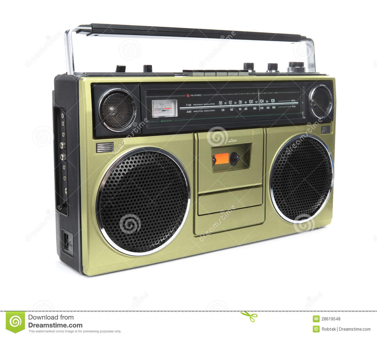 The Golden Boombox stock photo  Image of hifi, hiphop - 28619548