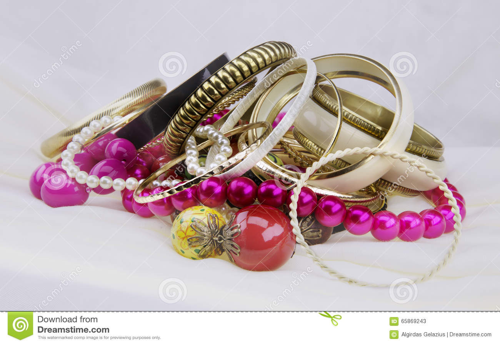 Golden bracelets and beads