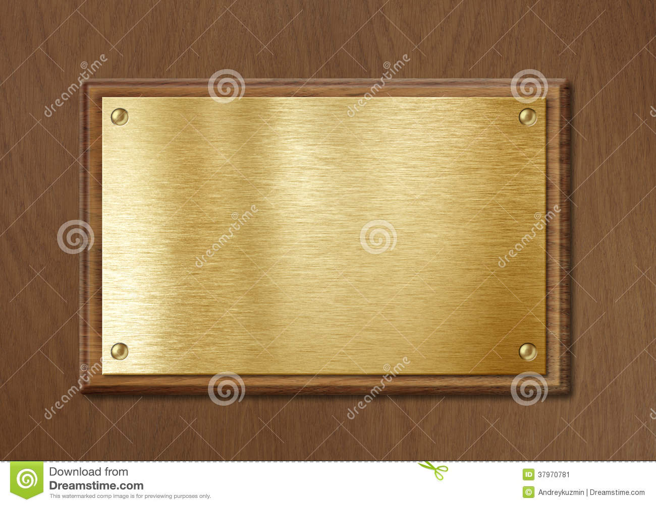 Golden Or Brass Plate For Nameboard Or Diploma Background