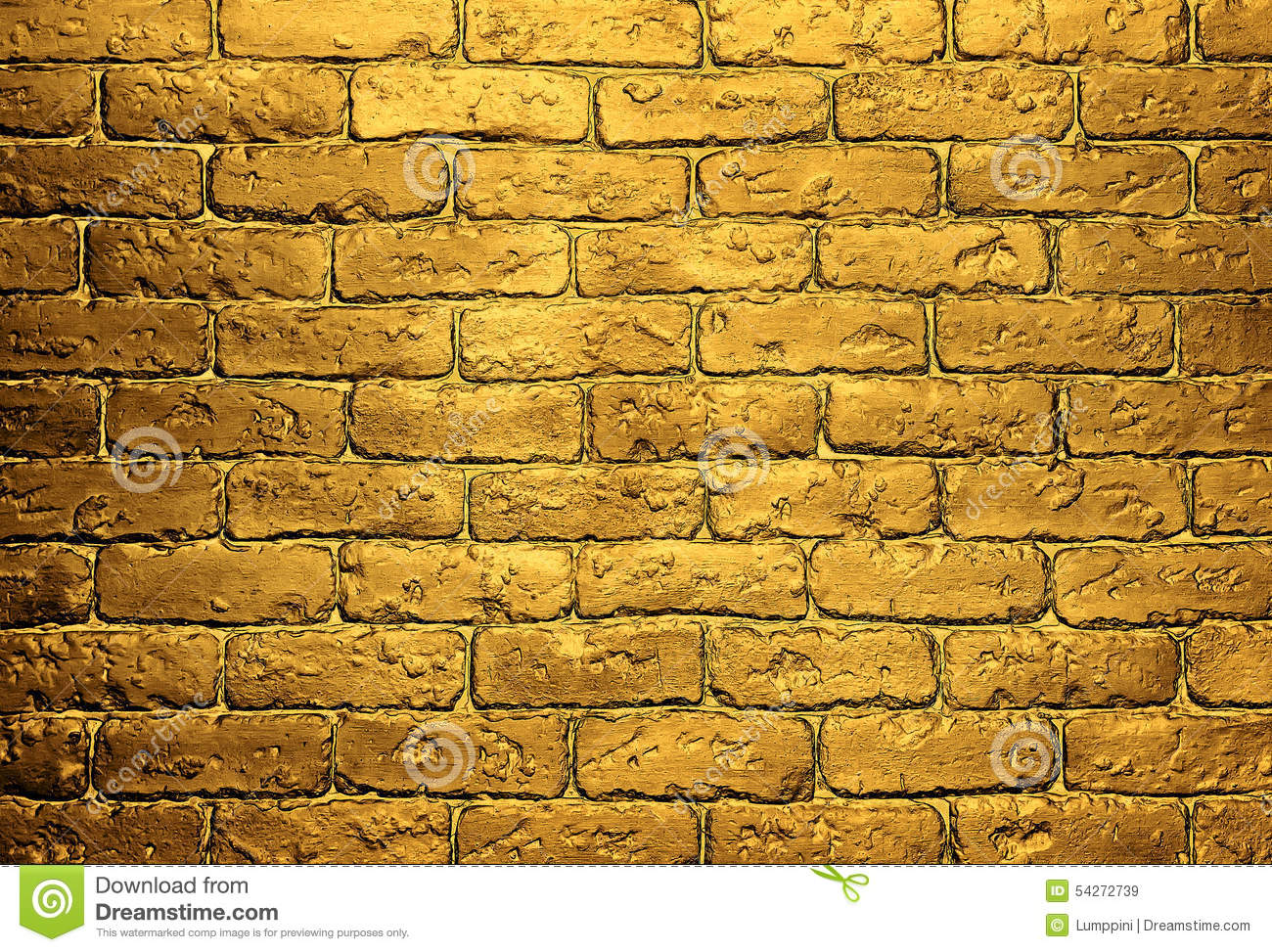 Golden Brick Wall Background Stock Photo Image 54272739