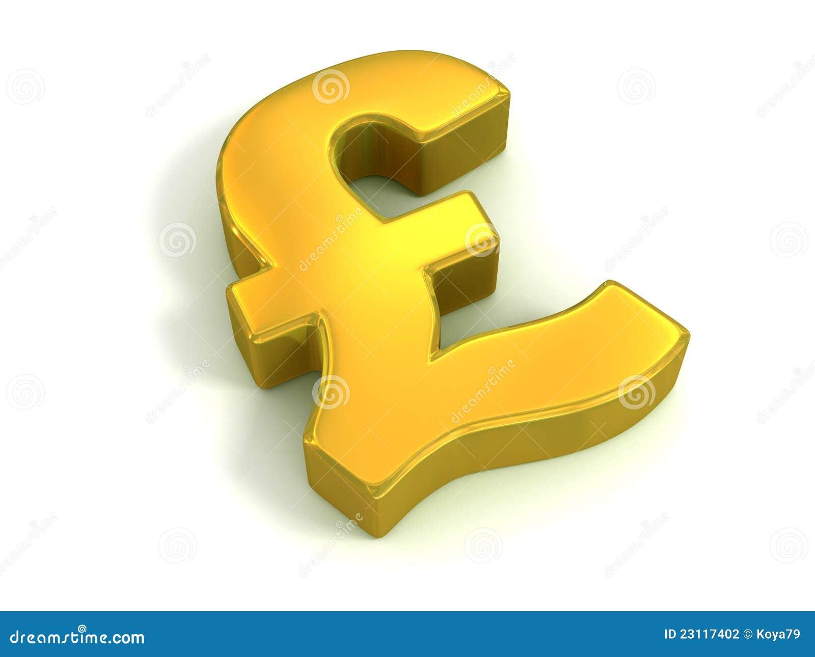 Golden british pound symbol stock illustration illustration of golden british pound symbol biocorpaavc Choice Image
