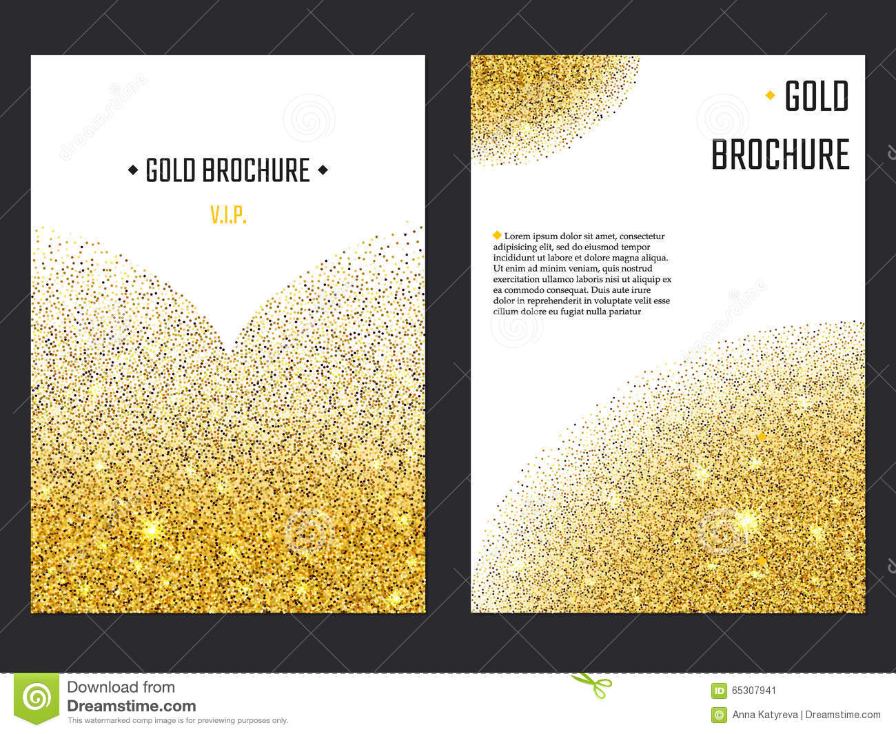 Golden Brochure Template 1 Stock Vector Illustration Of