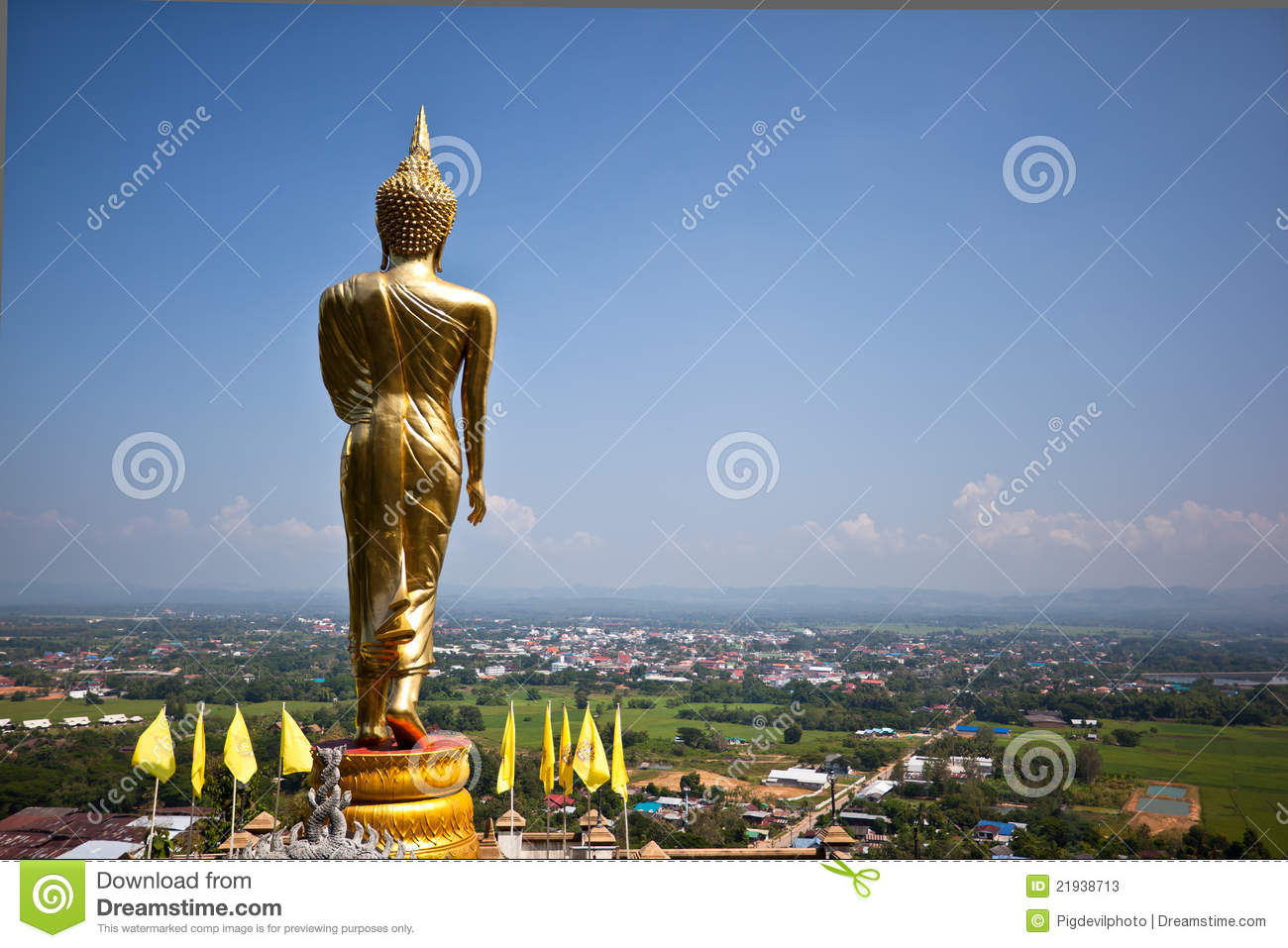 Golden Buddha In A Temple Of Nan Province Stock Photos - Image ...