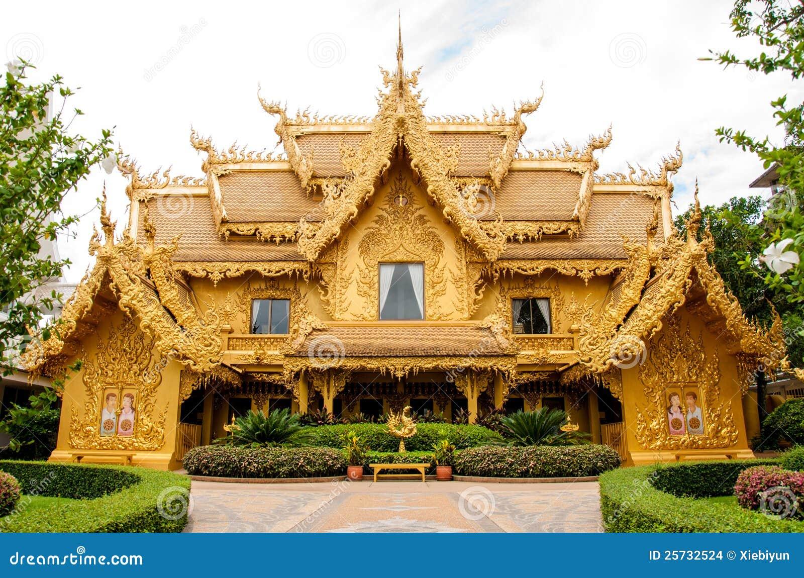 Golden building, Chiangrai, Thailand.