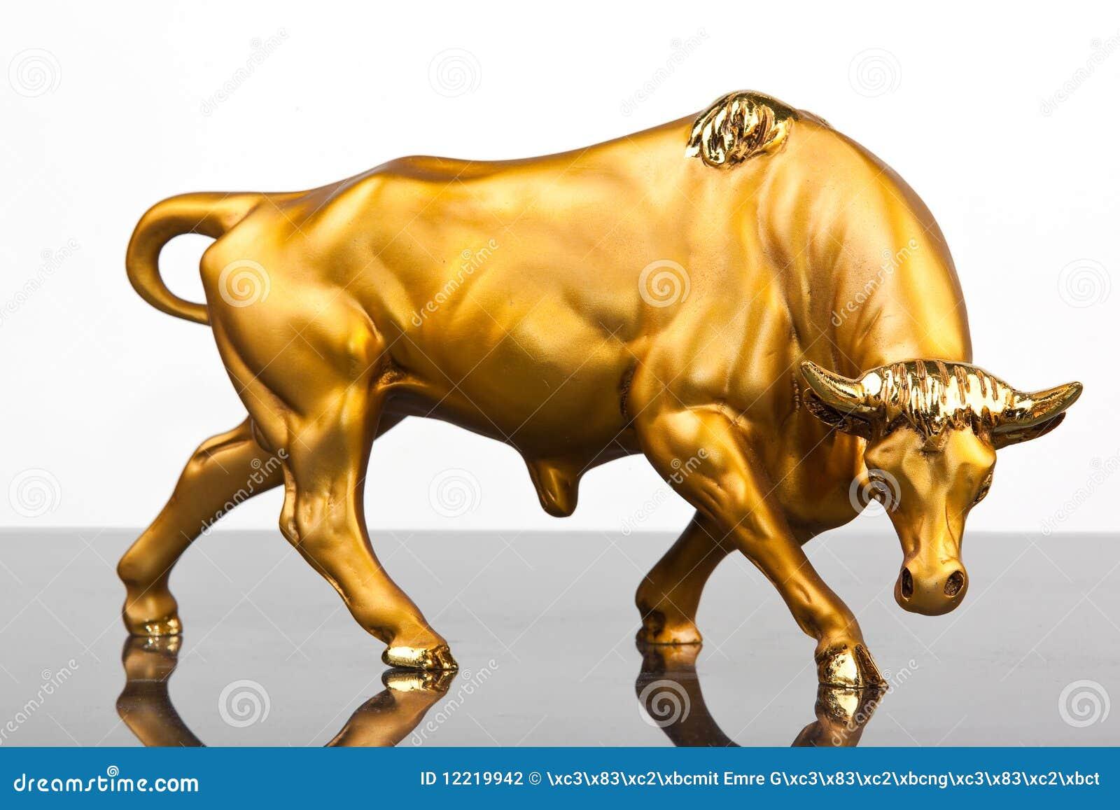 Golden Bull Stock Photography Image 12219942