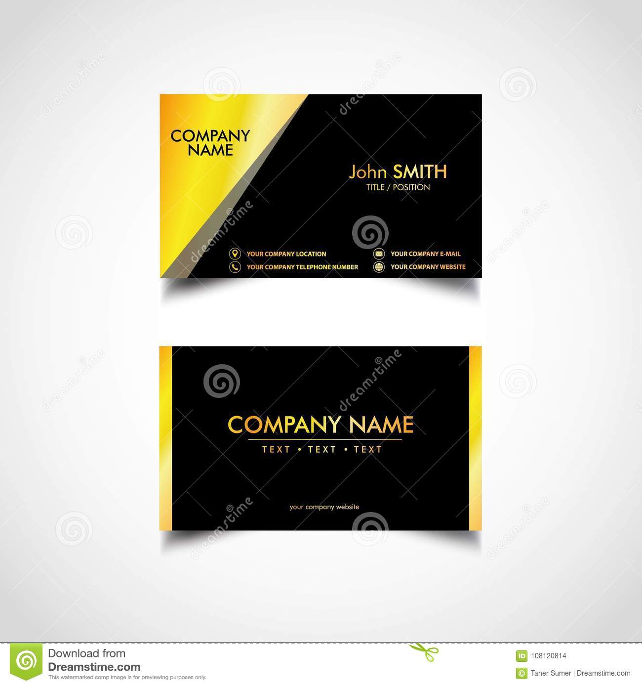 Golden business card template vector eps file stock vector golden business card template vector eps file royalty free vector download colourmoves