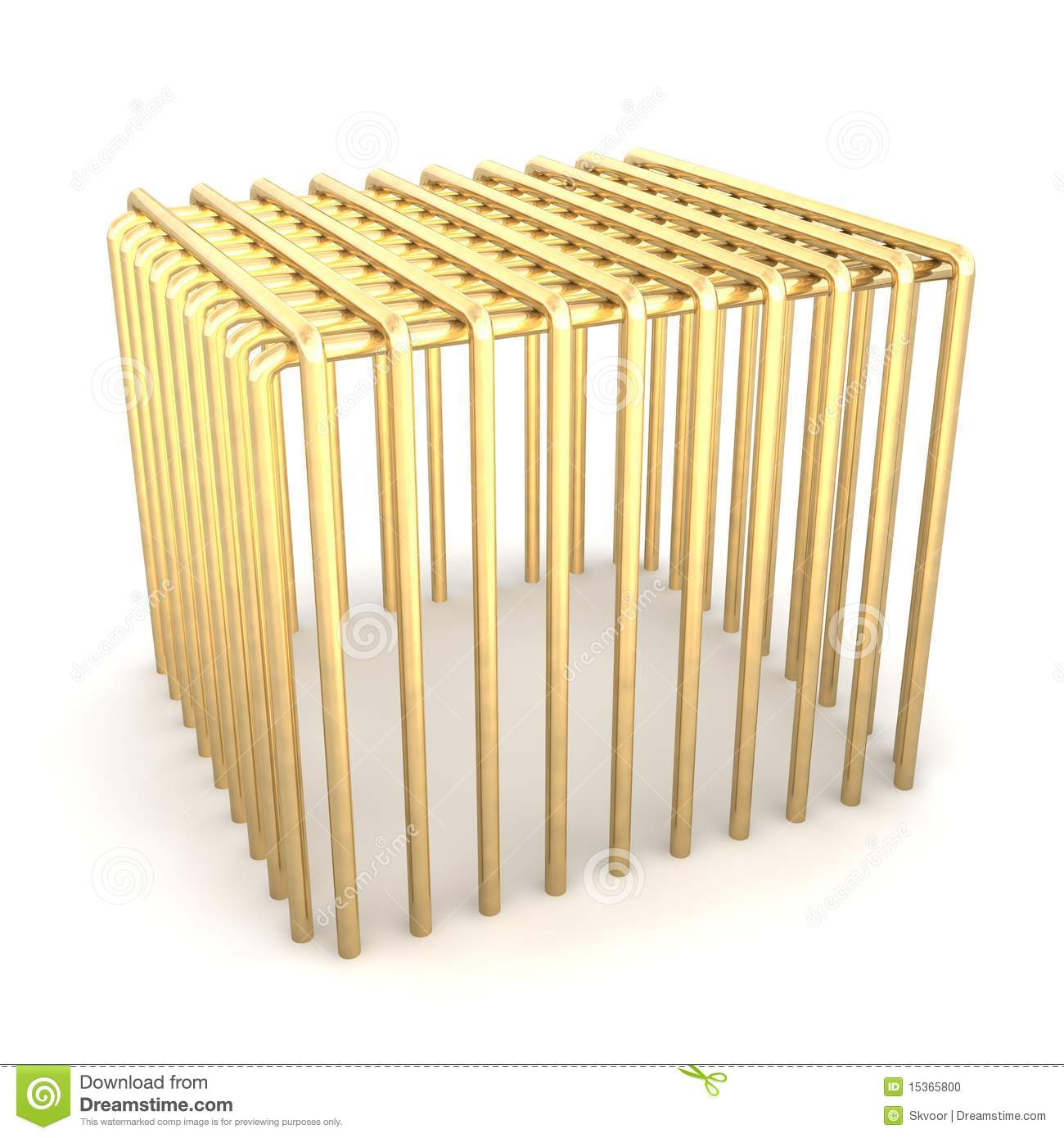 Golden Cage Stock Photo Image 15365800