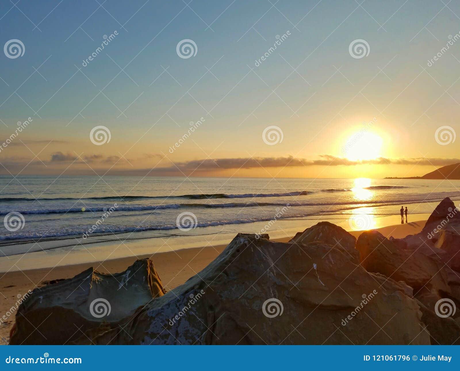Golden California Pacific Beach Summer Sunnset