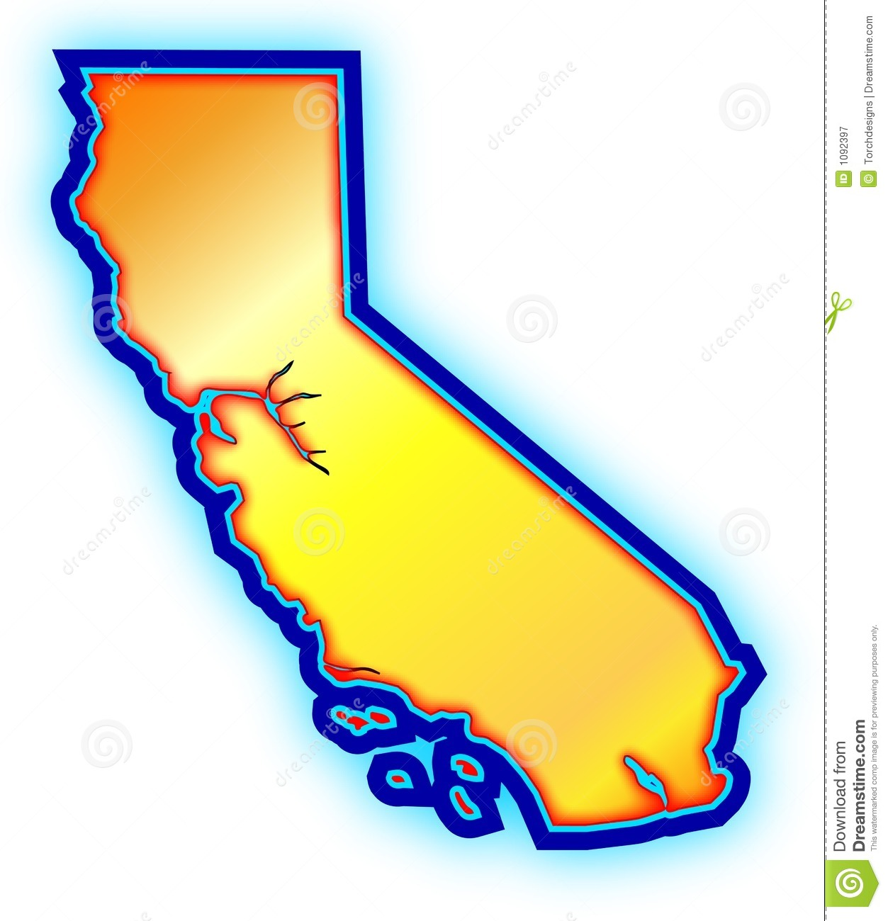 clip art california map - photo #38