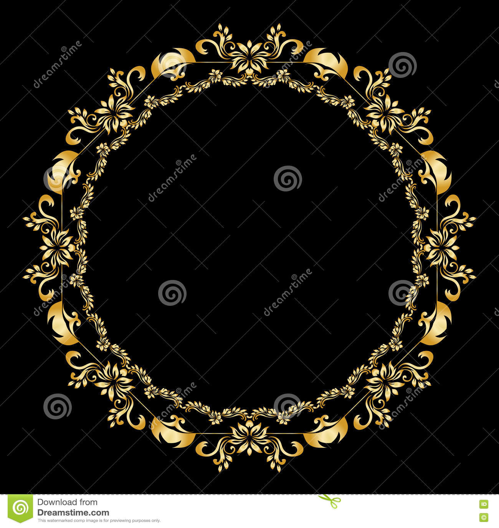 Golden calligraphic vector design elements on the black background golden calligraphic vector design elements on the black background gold menu and invitation border round framedivider filigree badge stopboris Gallery
