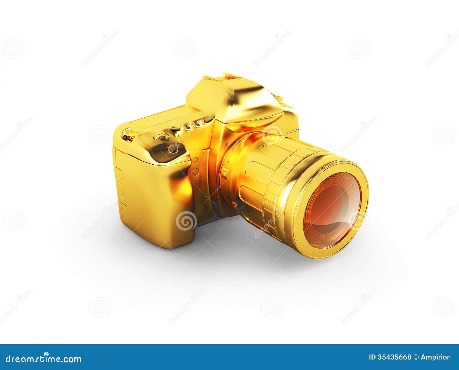 golden camera royalty free stock photos image 35435668