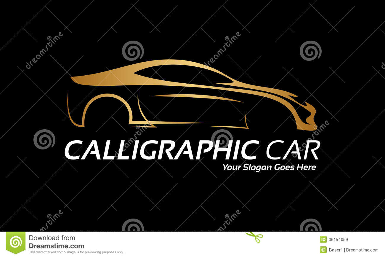 Golden Car Logo Royalty Free Stock Images - Image: 36154059