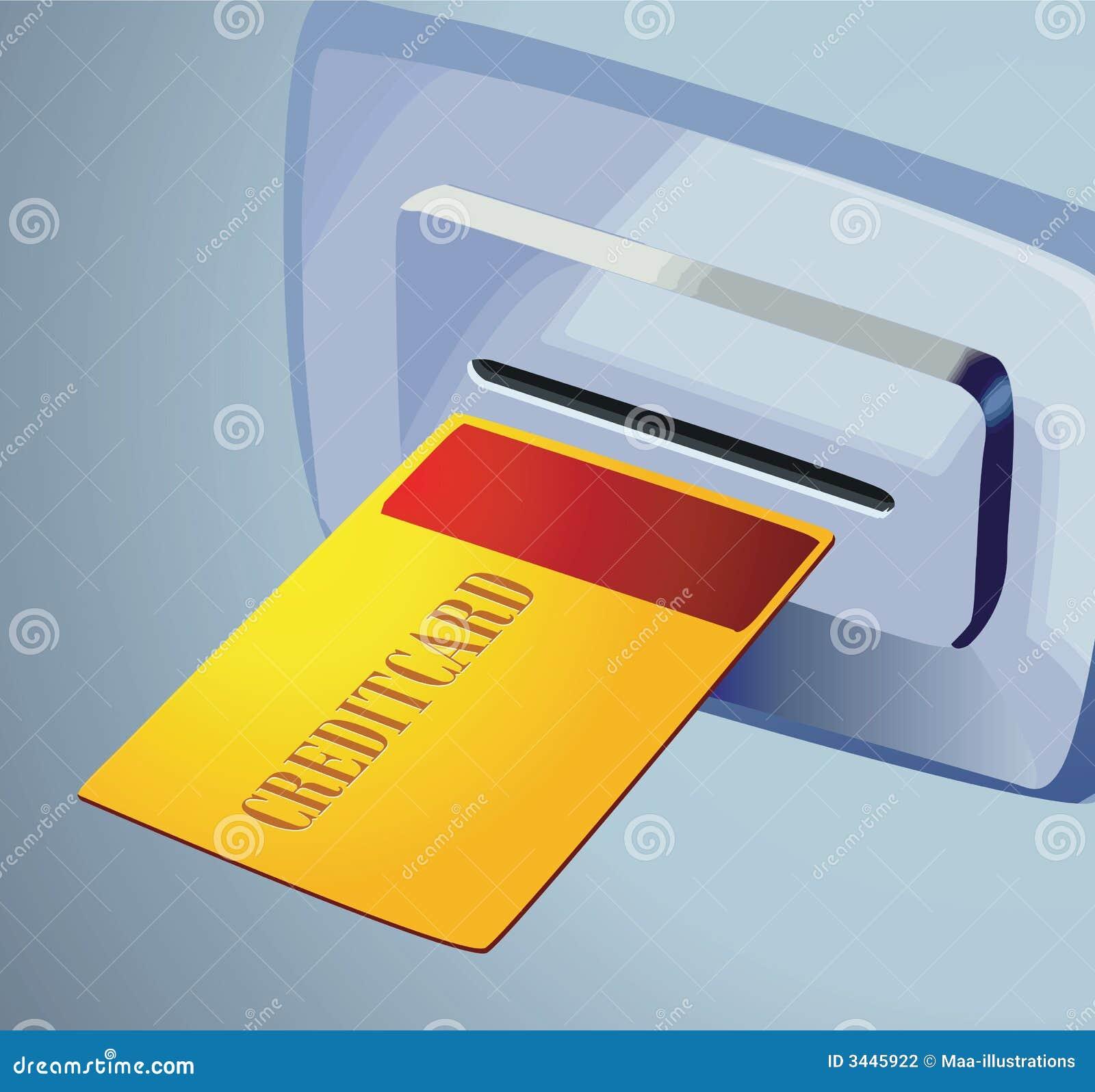 Golden card to teller machine