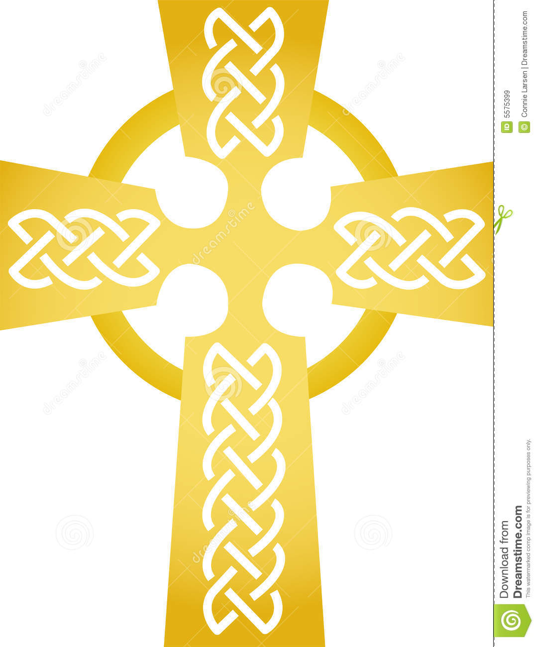Golden Celtic Cross/eps Royalty Free Stock Images - Image: 5575399