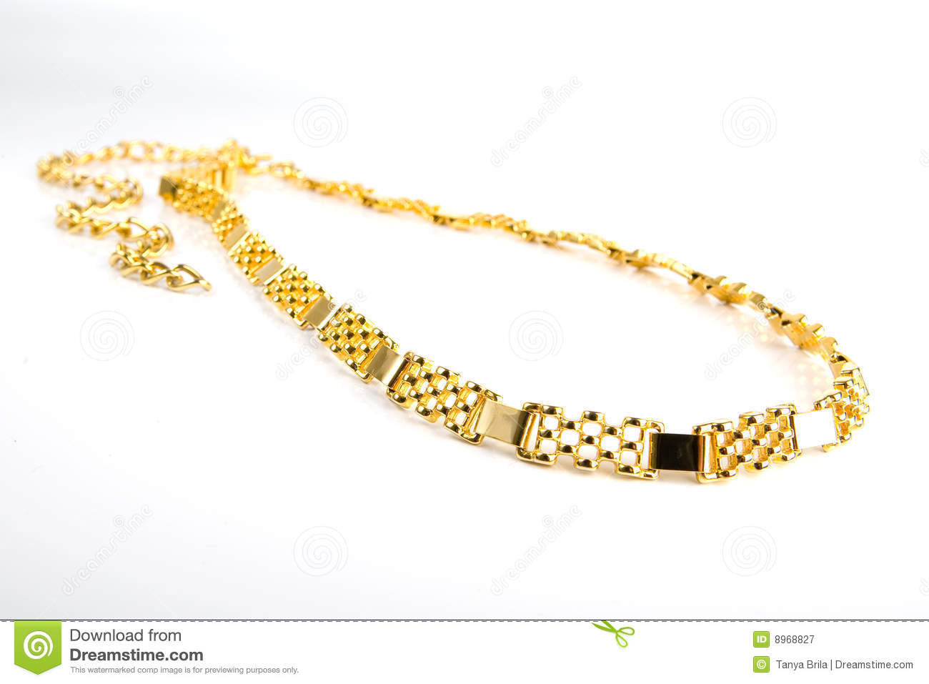 Golden Chain Royalty Free Stock Photography