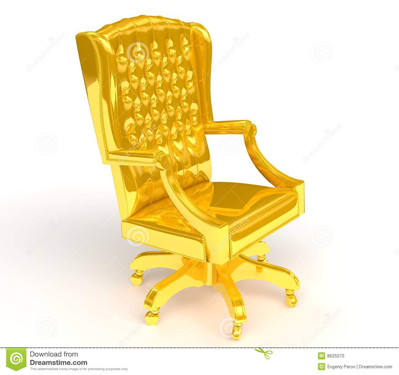 Golden Chair Stock Illustration Image Of Office Design