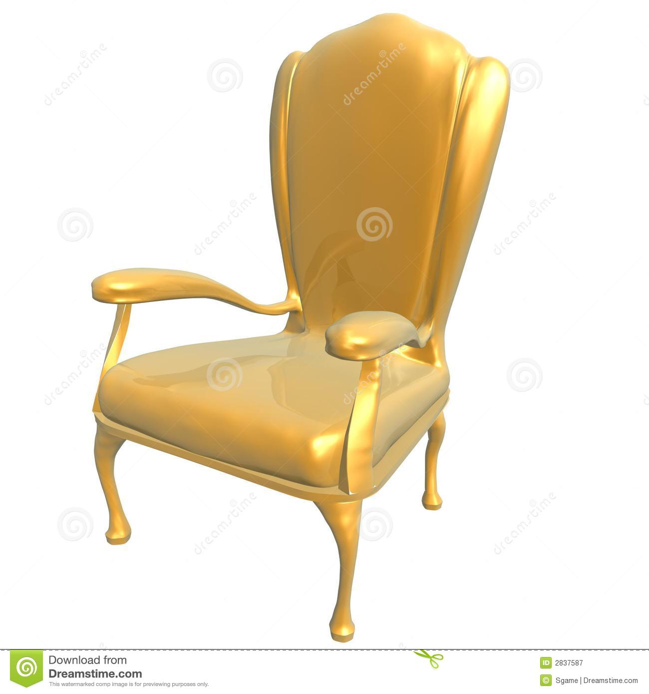 golden chair of king royalty free stock image - image: 2837596