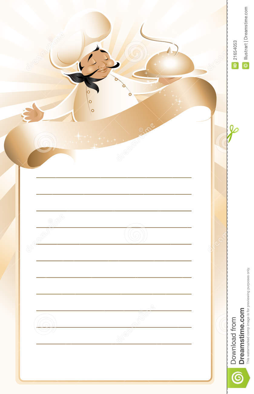 chef template resource - golden chef menu template stock photos image 21654053
