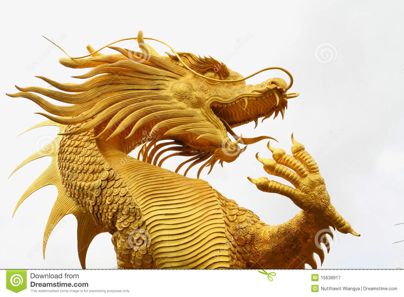 Golden Chinese Dragon Statue Royalty Free Stock Photography - Image ...