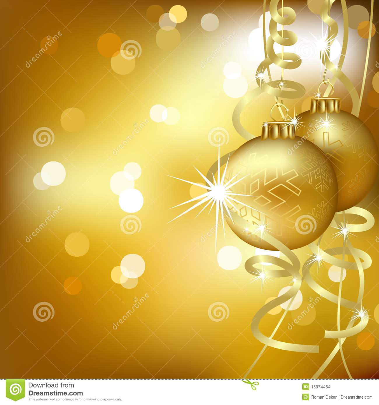 golden christmas background with - photo #27