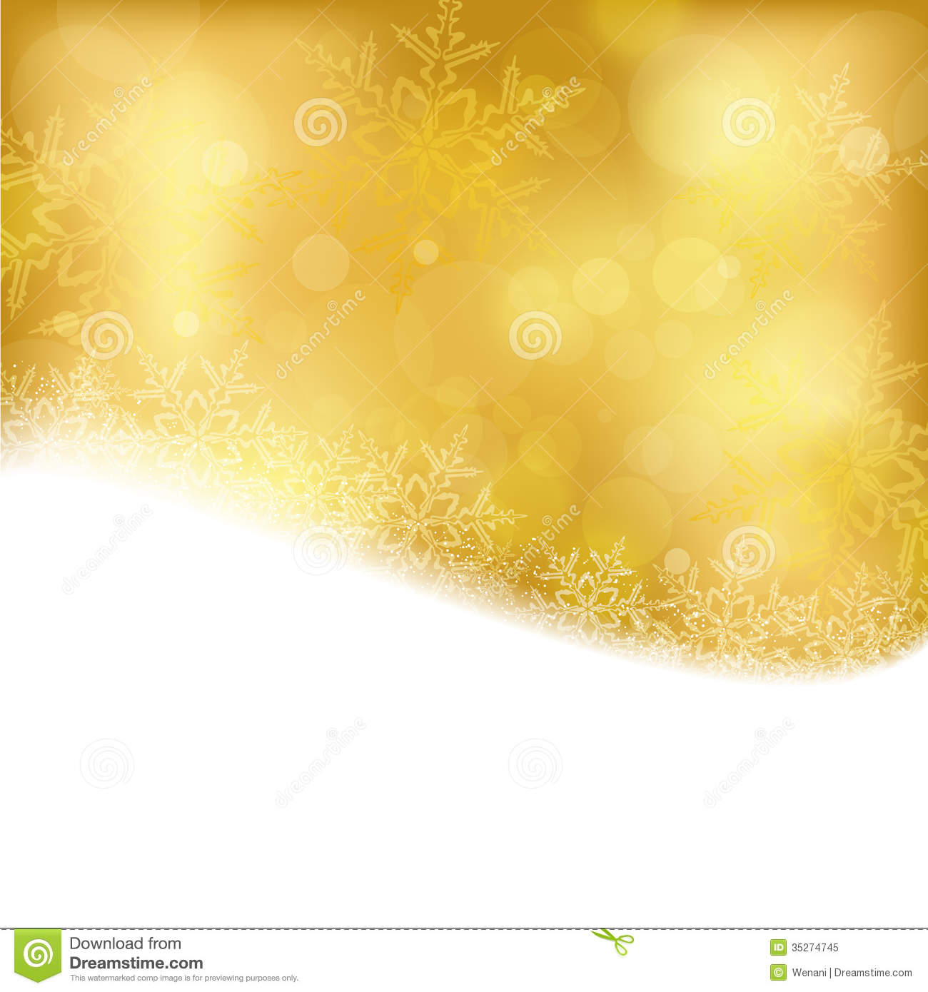 50 Shades Of Fabulous Svg: Golden Christmas Background With Blurry Lights Stock