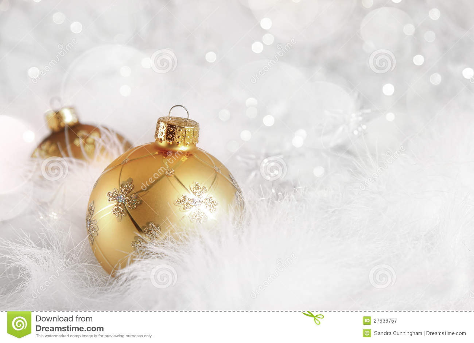 Golden Christmas Balls On Holiday Background Stock Image Image Of Christmas Celebrate 27936757