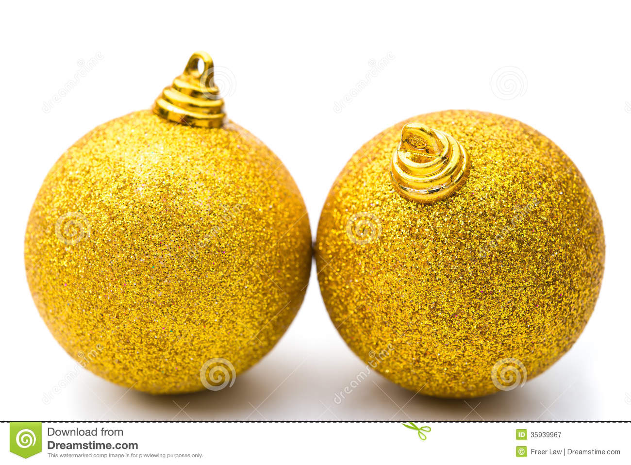 Golden Christmas Balls Royalty Free Stock Photography - Image ...