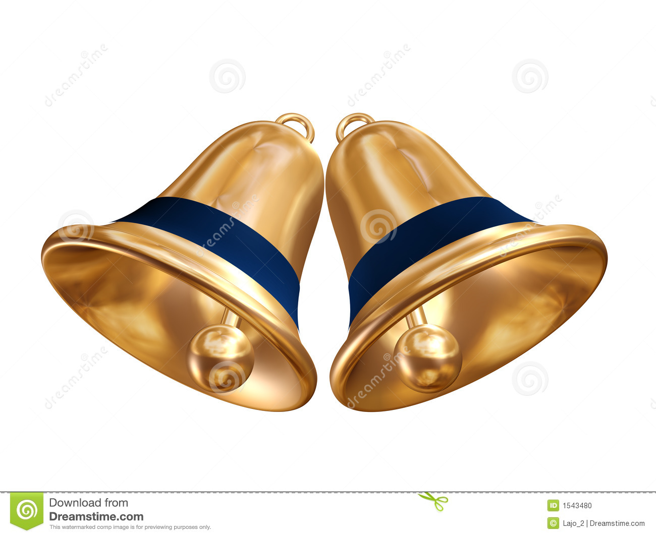 golden christmas bells stock illustration illustration of