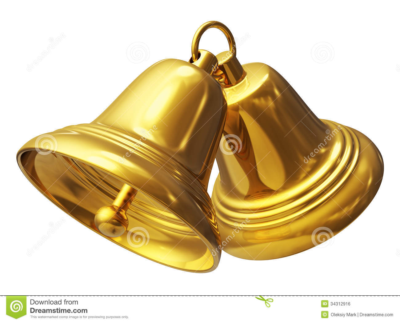 Golden christmas bells stock illustration of