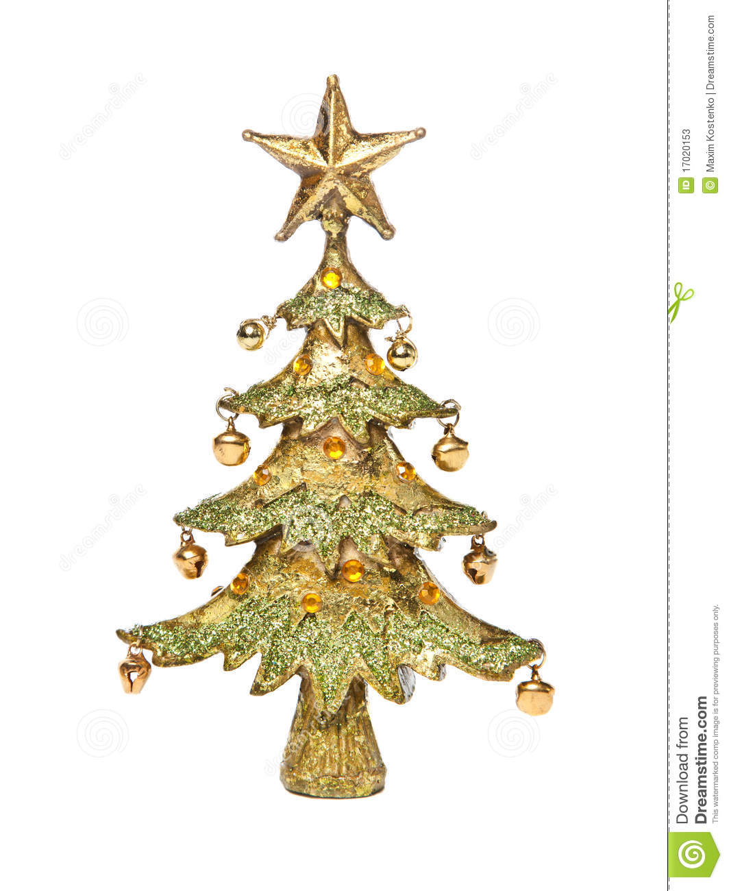 Golden Christmas-tree Stock Photos - Image: 17020153