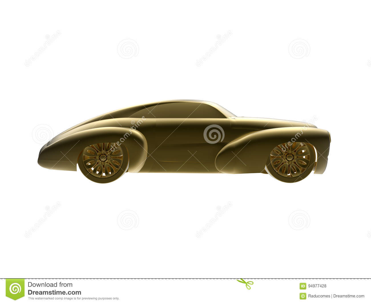 Golden classical car