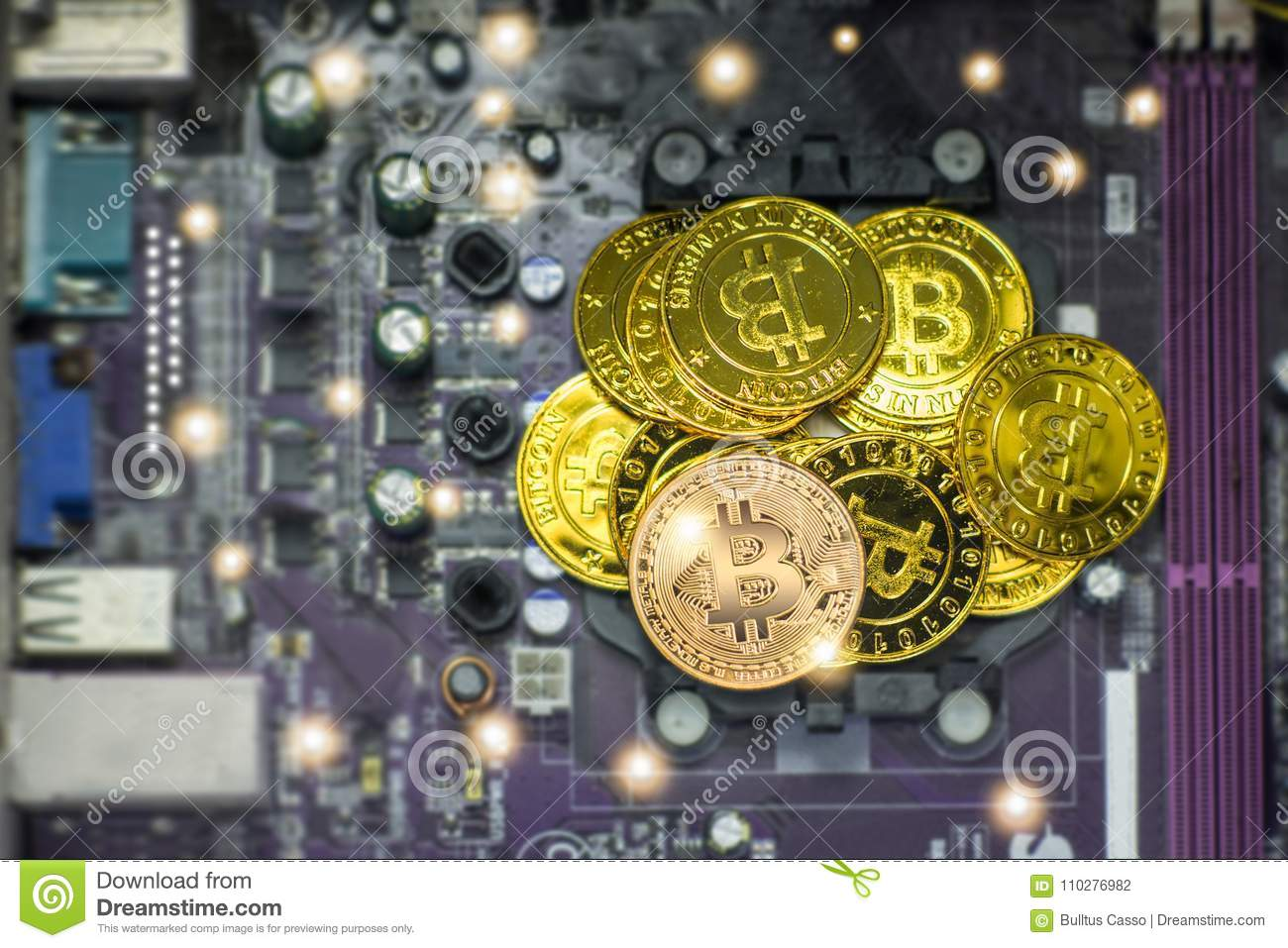 Coin Electronic Circuits Schematics Wiring Diagrams Toss Circuit Diagram Golden On The Background Of Board Stock Rh Dreamstime Com Digital
