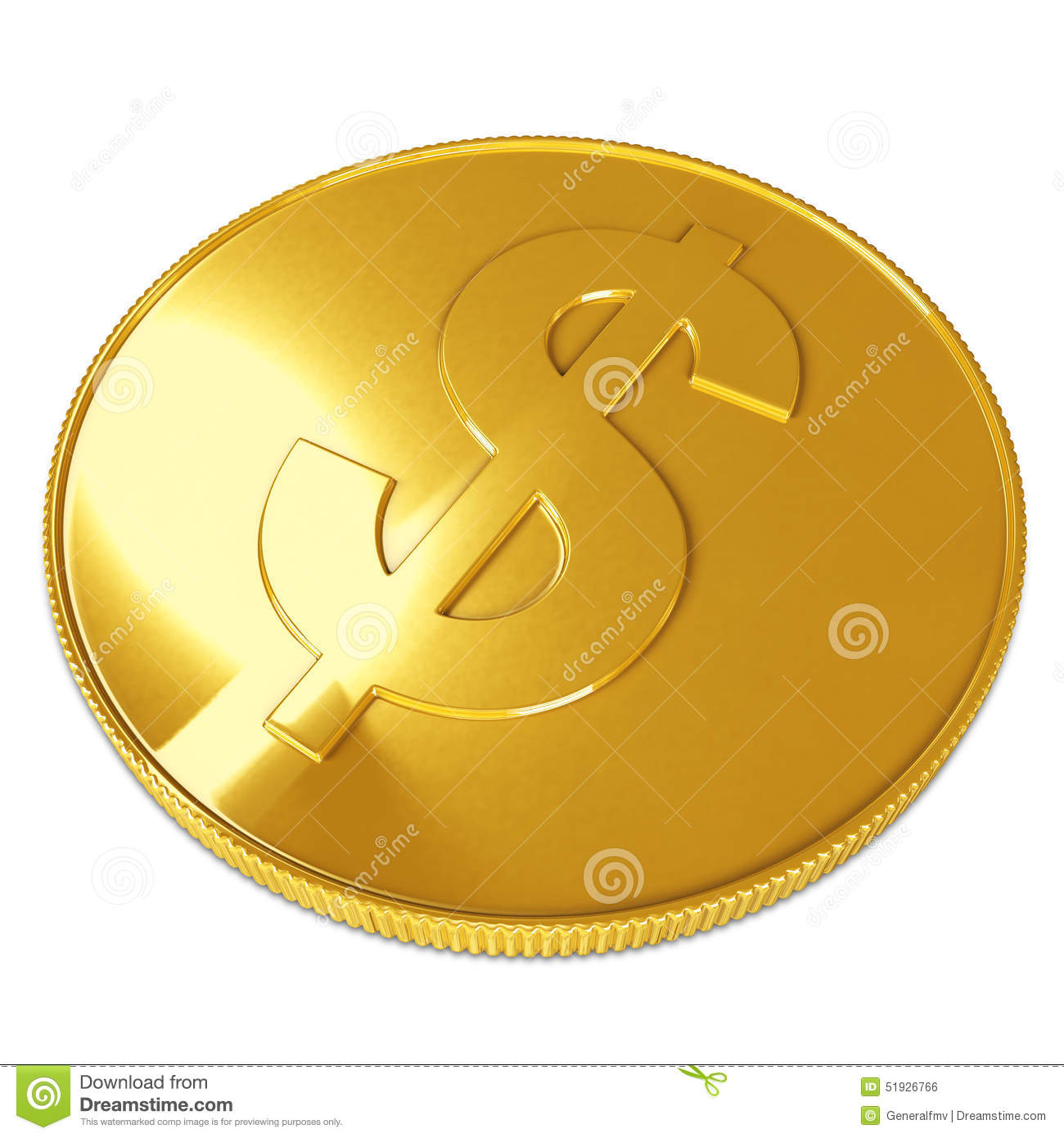 golden coin isolated on white background stock illustration