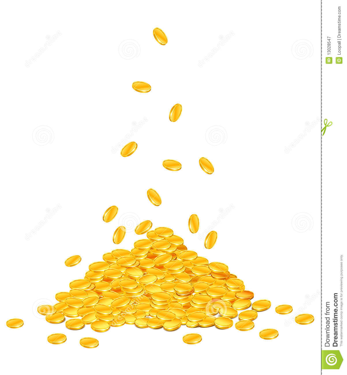 Gold Coins Falling Png Gold