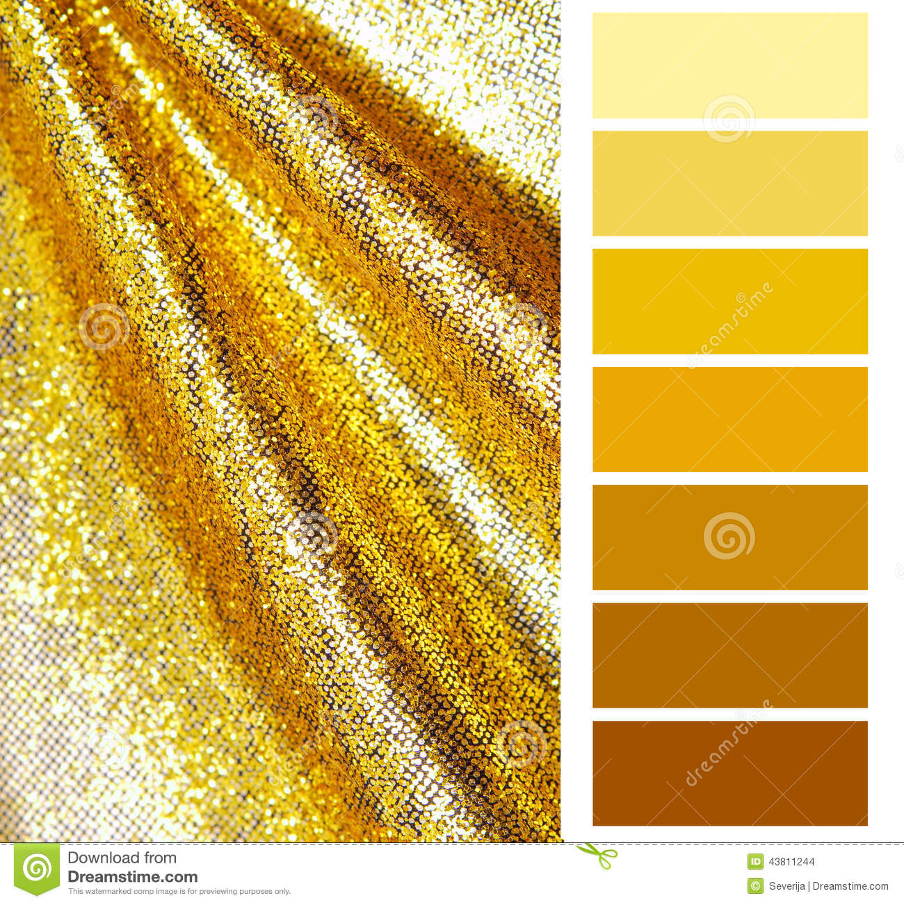 Golden Color Chart Selection Stock Photo - Image: 43811244