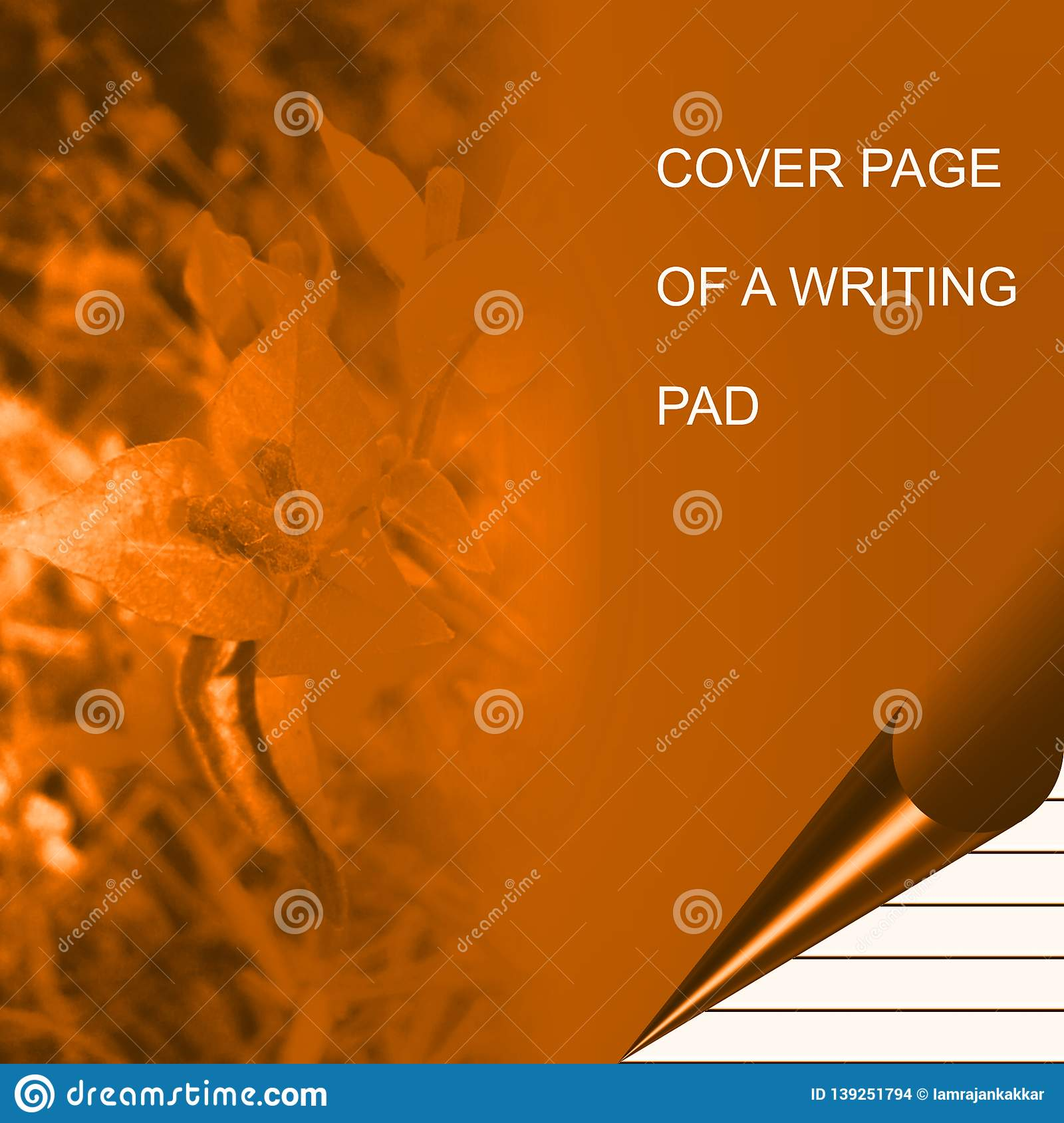 Golden color writing pad shaded with lighting effect computer generated background image and wallpaper design