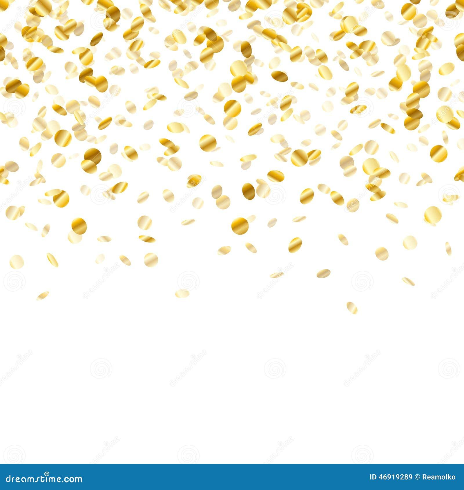 Confetti background vector golden confetti background - Royalty Free Vector Download Golden Confetti Background